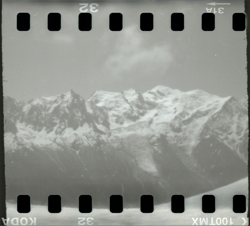 Pinhole picture of Mont Blanc