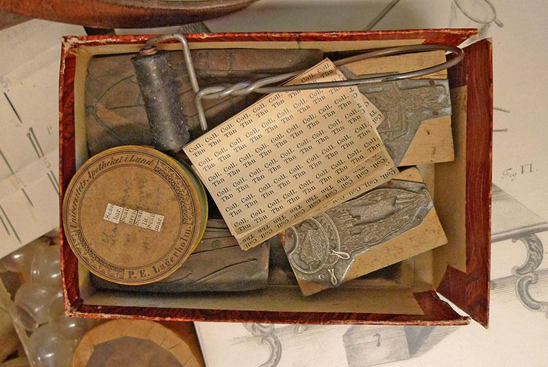 Old field printing set